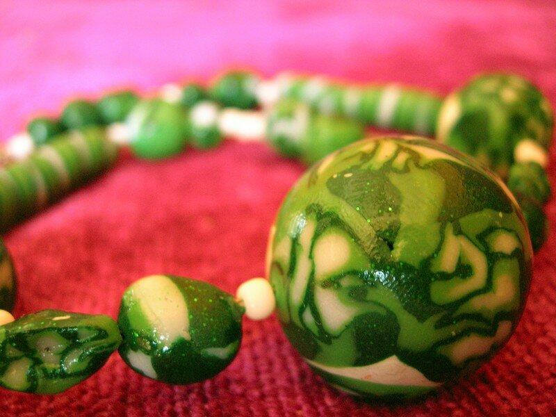 Collier vert par Morgane (vue 3)