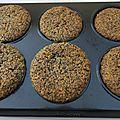 Muffins aux noisettes et au pavot
