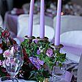 A-Mariage romantique Chandelier fleuri