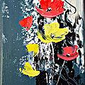 fleurs jaune et rouge