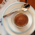 Petites crèmes amandines au chocolat, sans blé, sans lait, sans oeuf, sans sucre ajouté