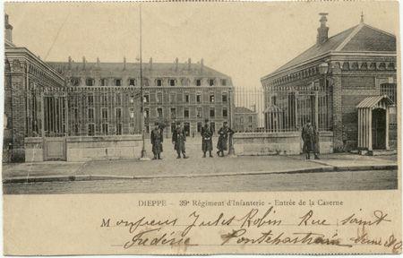 76 - DIEPPE - Entrée de la caserne - 39e d'Infanterie