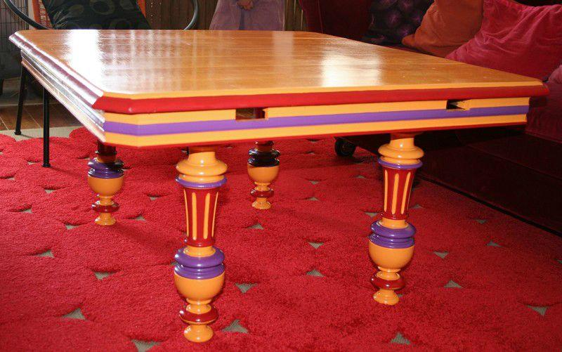 Table basse rénovée