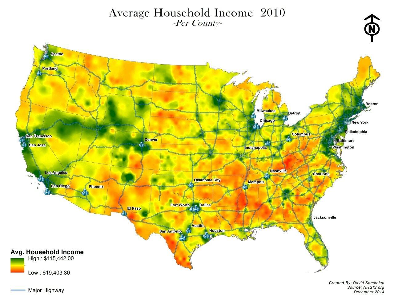 usa average household income