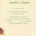 Le Mariage d'Isabelle et Bernard