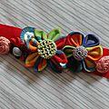 Diy: fleurs kanzashi en tissu