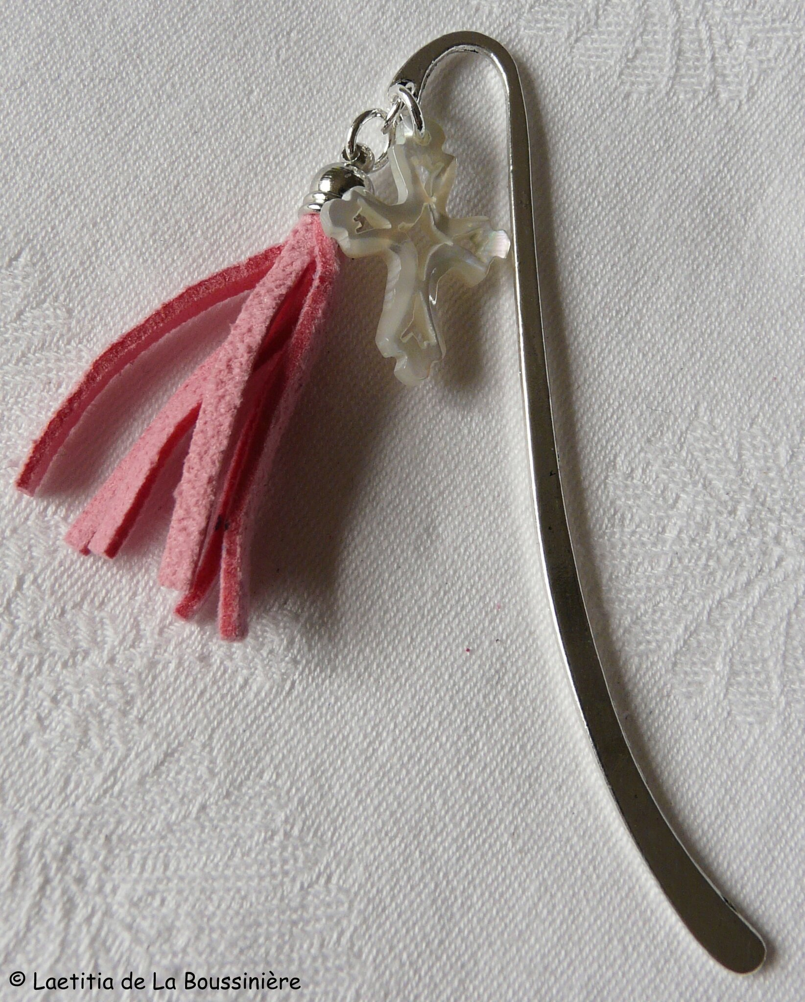 Marque pages Pompon (rose) - 14 €