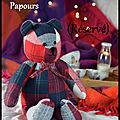 Papours, l'ours câlins vintage