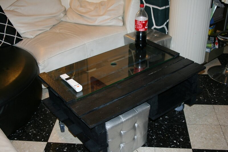 Une table basse récup en palettes
