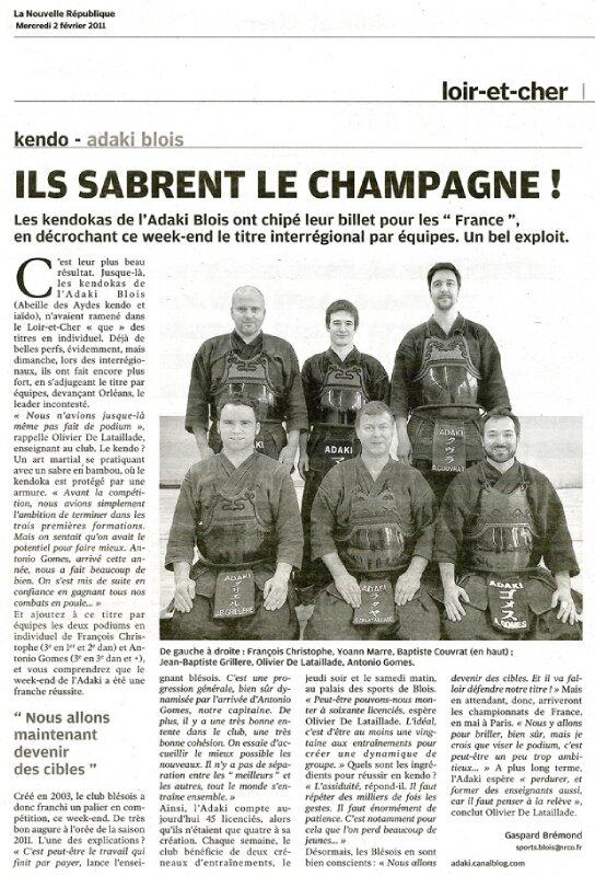 2011 02 02 - article NR 2 (équipes interrégion)