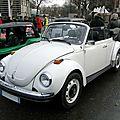 Volkswagen super beetle convertible (version us), 1974 à 1980