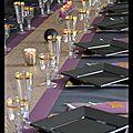 Deco de table noel 2016 !! noire, prune et or...............