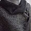 Pure laine chinée noir blanc balenciaga