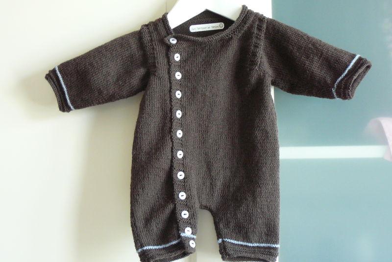 modele combinaison bebe en tricot