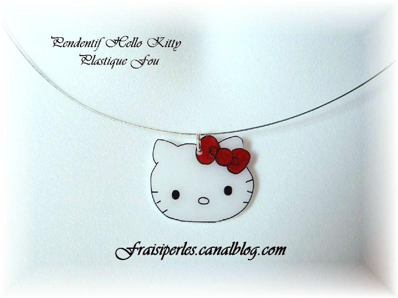 Pendentif Hello Kitty Plastique Fou