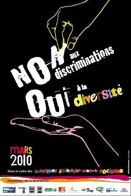 Affiche semaines education contre racisme 2010 sarthe