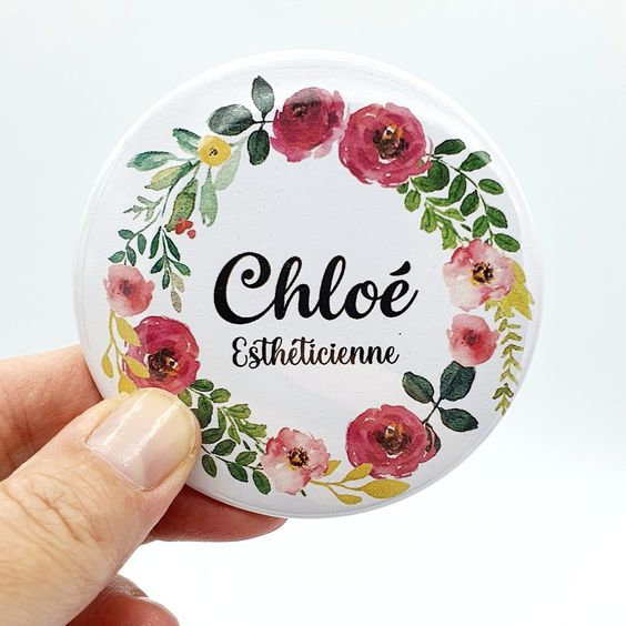vanillejolie badge personnalisé