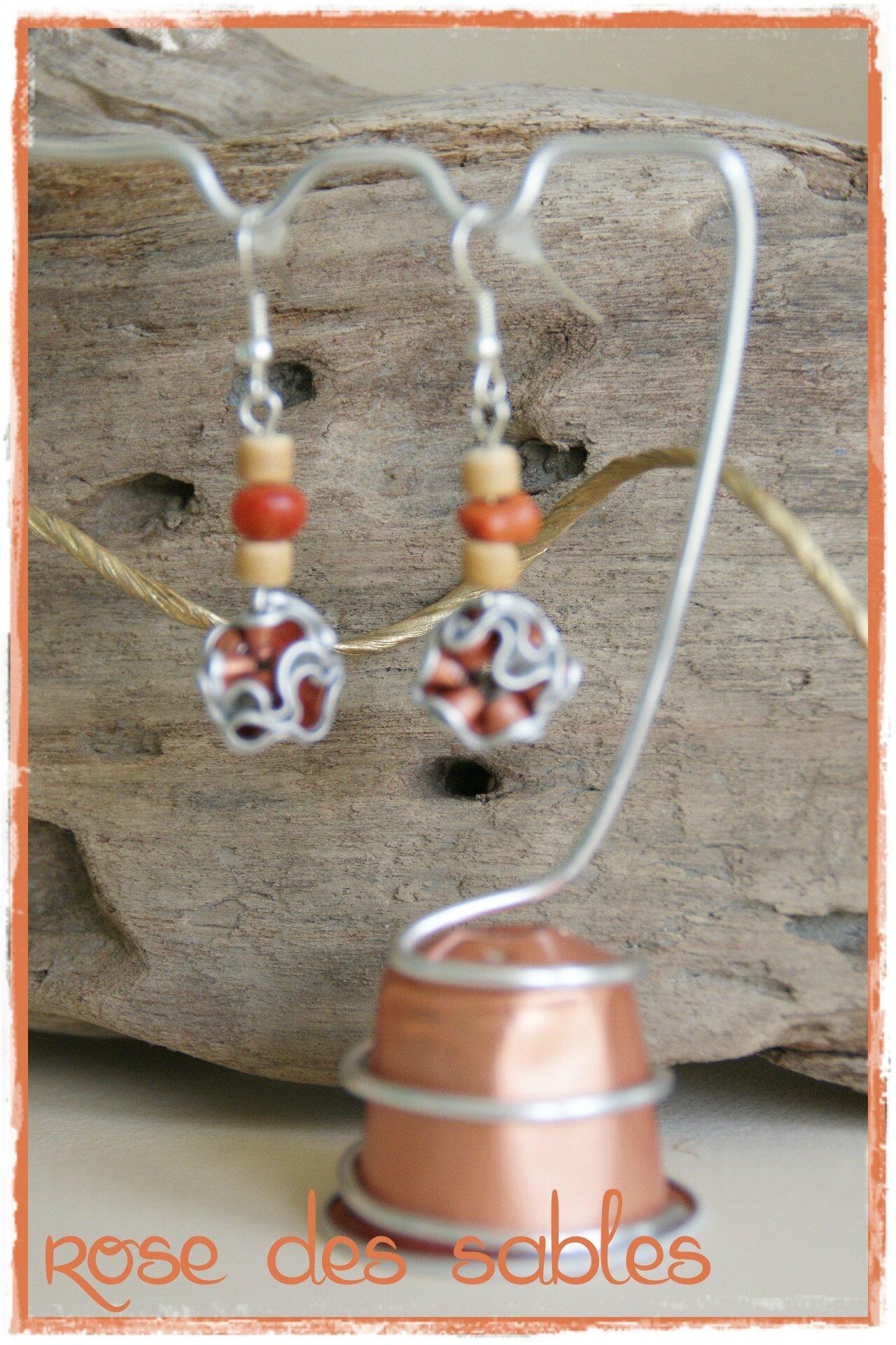 Boucles d'oreilles Rose des Sables