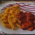 Sauté de poulet au paprika et spätzles au potiron