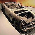 Destroyed scale model of the famous Aston Martin DB5. «Skyfall» 2012. Photo: Olivier Daaram Jollant © 2016