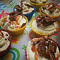 Cupcakes chocolat snickers caramel