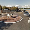 Rond-point à <b>Dublin</b> (Irlande)