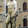 La piazza della signioria et la loggia dei lanzi à florence, leurs sculptures
