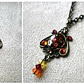 pendentif abalone rouge