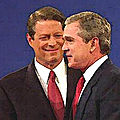 Il y a 20 ans, le match électoral incertain <b>George</b> <b>W</b>. <b>Bush</b> vs Al Gore