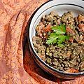 Azifa : salade de lentilles éthiopienne (avec une petite touche basque)