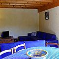 Gite le Paradis*** Pont en Royans Vercors - Gite 319100 - Bleu - Cuisine Salon 35M2
