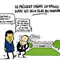 Le président chinois en france, commerce et démocratie