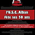Fête des 50 ans de l'usca rugby à alban