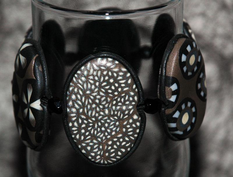 Orage - Bracelet en pâte Fimo 3