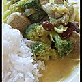 Il est mignon mon filet - curry de porc au lait de coco et aux légumes