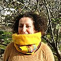 Snood adulte madras jaune (3)