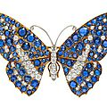 An Important Platinum Topped Gold, <b>Montana</b> <b>Sapphire</b> <b>and</b> <b>Diamond</b> <b>Butterfly</b> <b>Brooch</b>, Marcus & Co