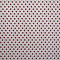 Tissu étoile blanc et rouge