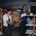 étalage de poteries