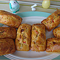 Cakes salés individuels au chorizo