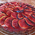 Tarte cheesecake aux figues