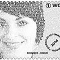 Le timbre-poste de la journée internationale des droits des femmes