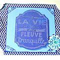Mini-album camaïeu bleu