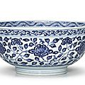 A blue and white bowl, qing dynasty, yongzheng period (1723-1735)
