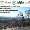 13 et 14 avril : les scouts se mobilisent pour la colline st jacques !