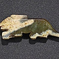 A dark green jade rabbit-form pendant, Late Shang-Early Western Zhou dynasty, <b>11th</b>-<b>10th</b> <b>century</b> <b>BC</b>