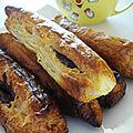 Feuilletes au nutella et milkshake bananes/fraises tagada