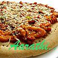 Seafood pizza / pizza aux fruits de mer