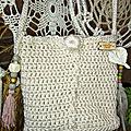 Petit sac <b>Bohème</b> ,exclusivité Natur'Eva crochet