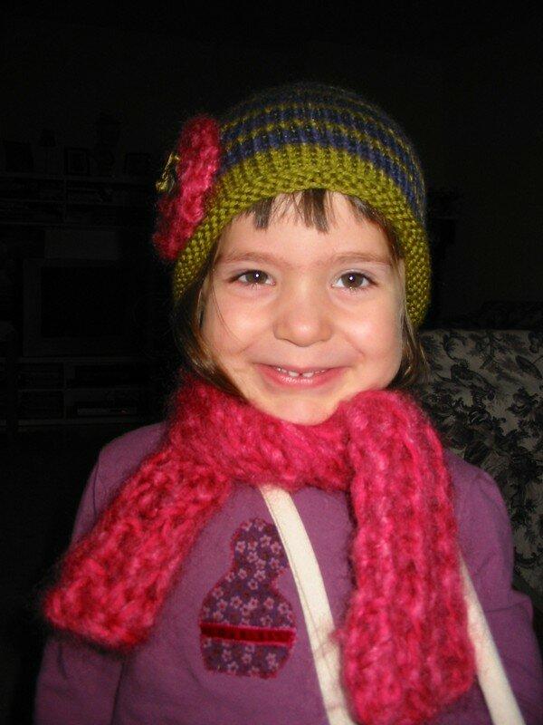 écharpe et bonnet Louise hiver 2006